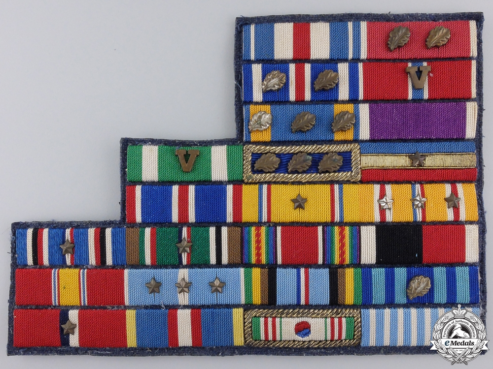 eMedals-A Second War American Eight Level Ribbon Bar