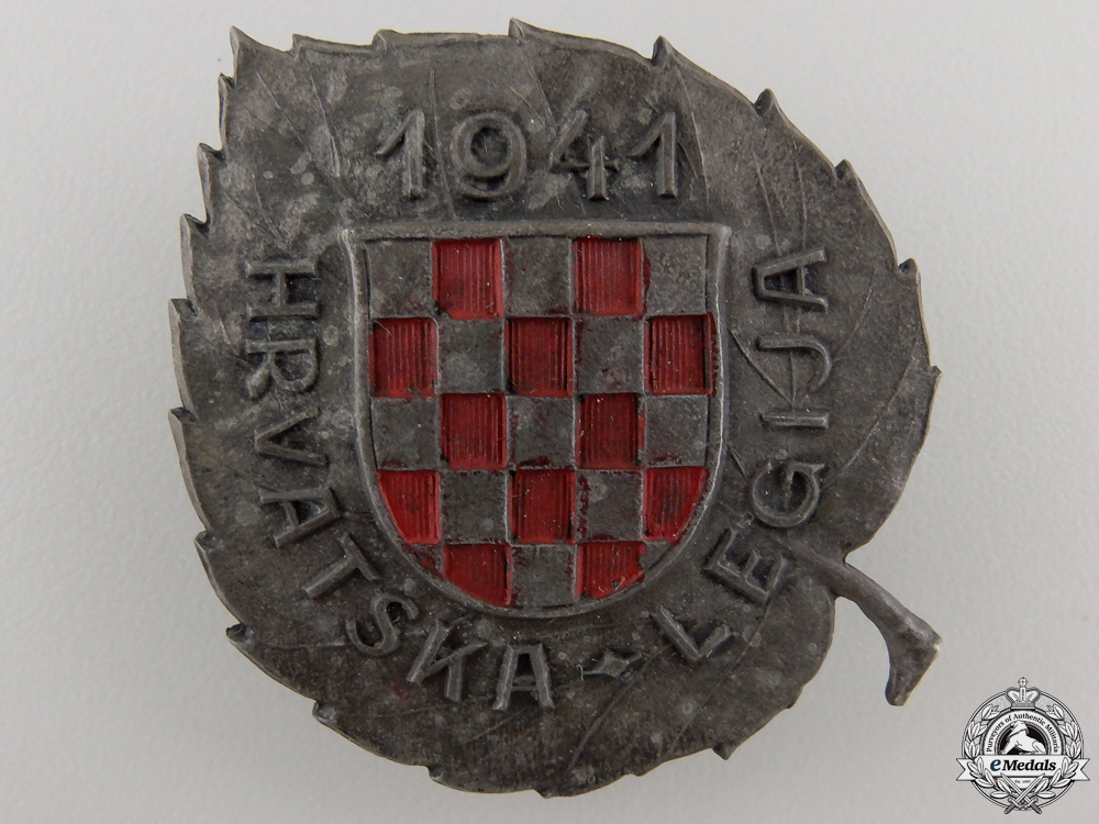 eMedals-A Second War Badge of the Croatian Legion for Russian Service