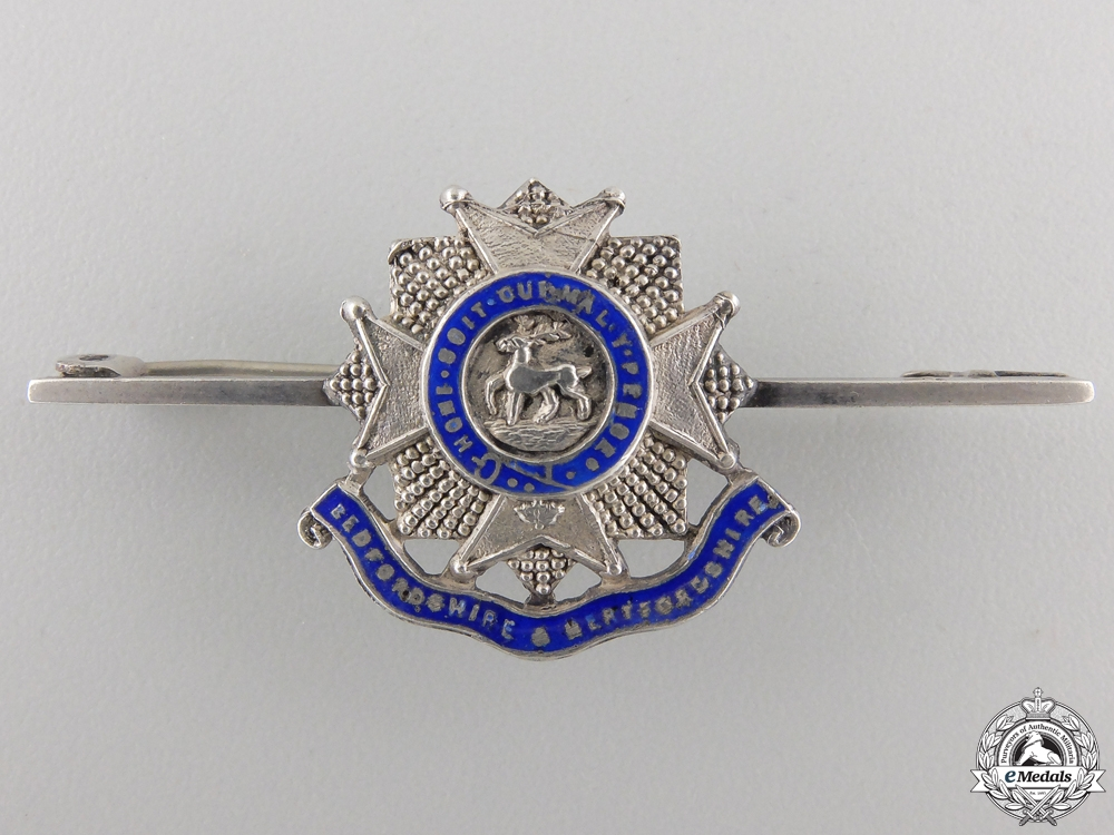 eMedals-A Second War Bedfordshire & Hertfordshire Pin