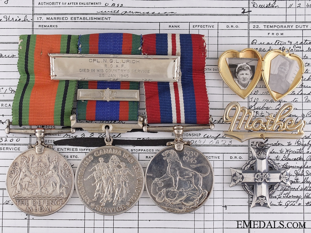 eMedals-A Second War Birks Memorial Group to the R.C.A.F.