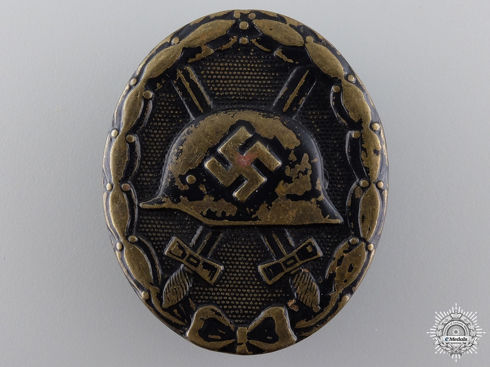 eMedals-A Second War Black Grade Wound Badge by August Menze
