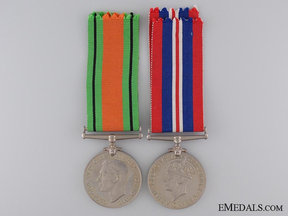 eMedals-A Second War British War & Defence Medal