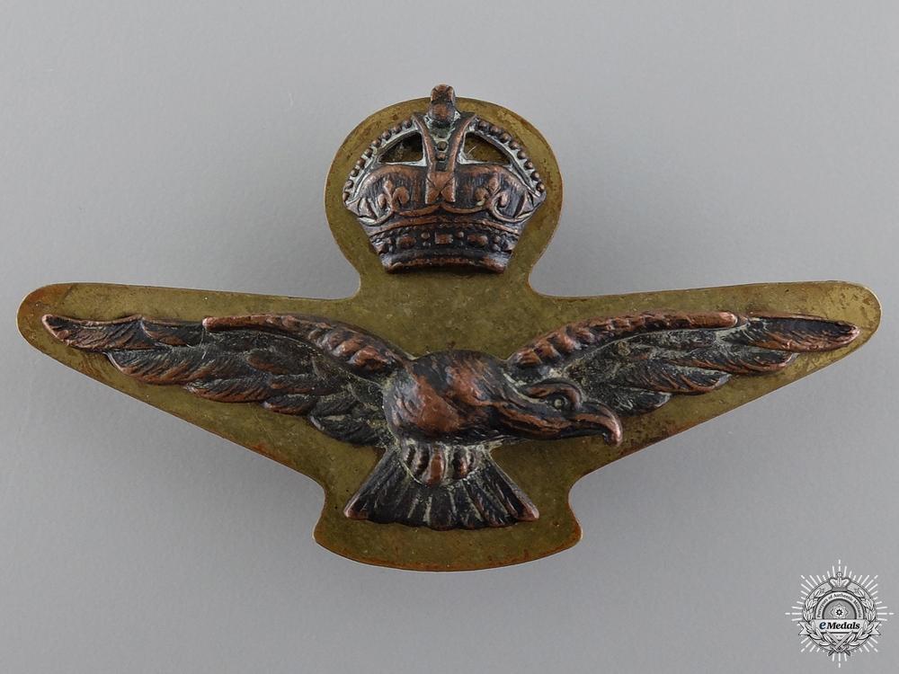 eMedals-A Second War British Royal Air Force (RAF) Side Cap Badge