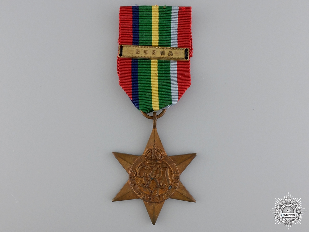 eMedals-A Second War British Pacific Campaign Star; Burma Clasp