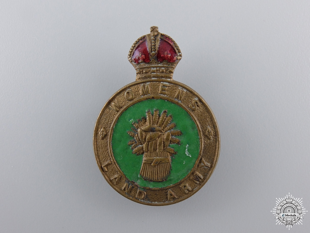 eMedals-A Second War British Women's Land Army Badge