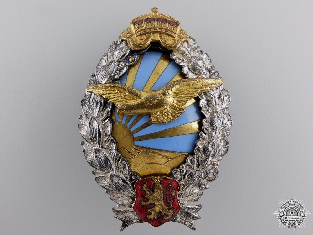 eMedals-A Second War Bulgarian Pilot's Badge; Type II