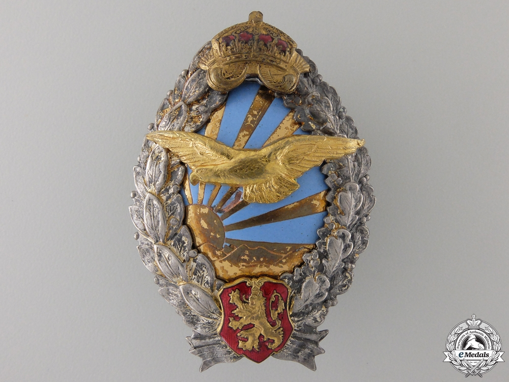 eMedals-A Second War Bulgarian Pilot's Badge