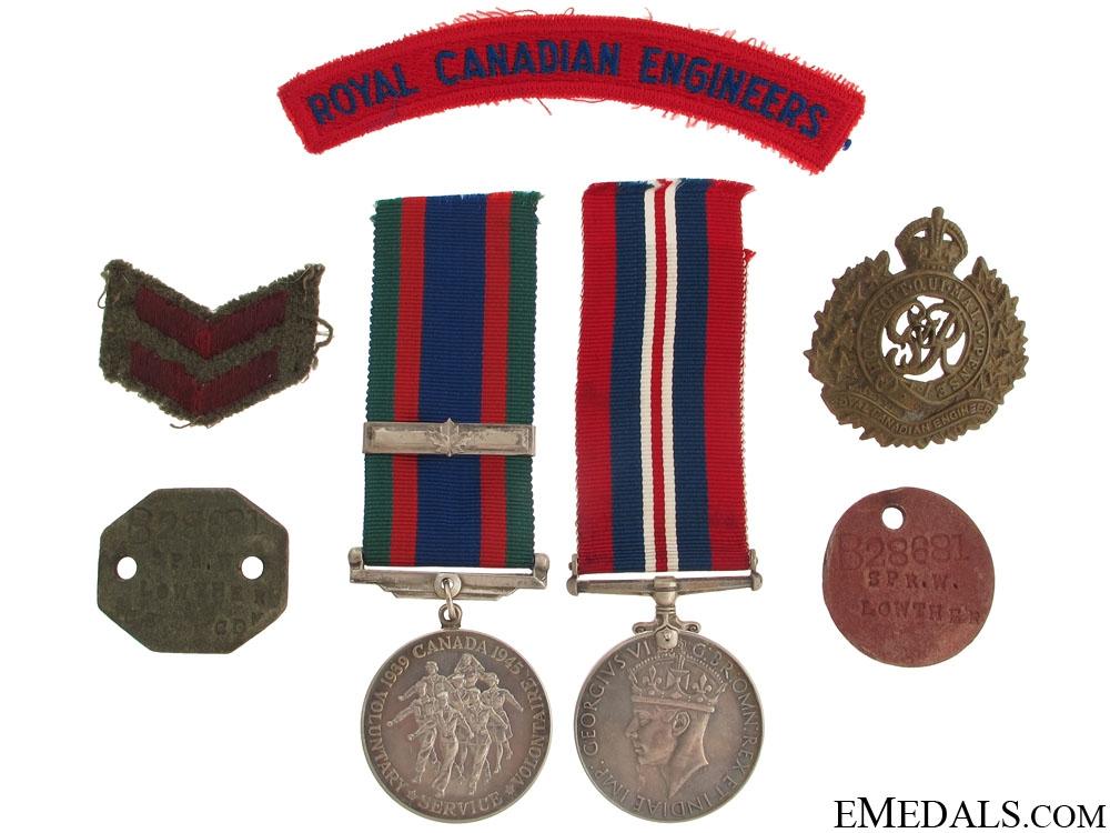 eMedals-A Second War Canadian Group