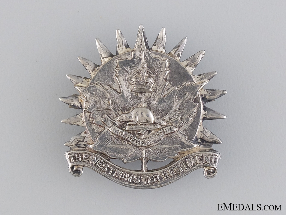 eMedals-A Second War Canadian Westminster Regiment (M.G.) Pin