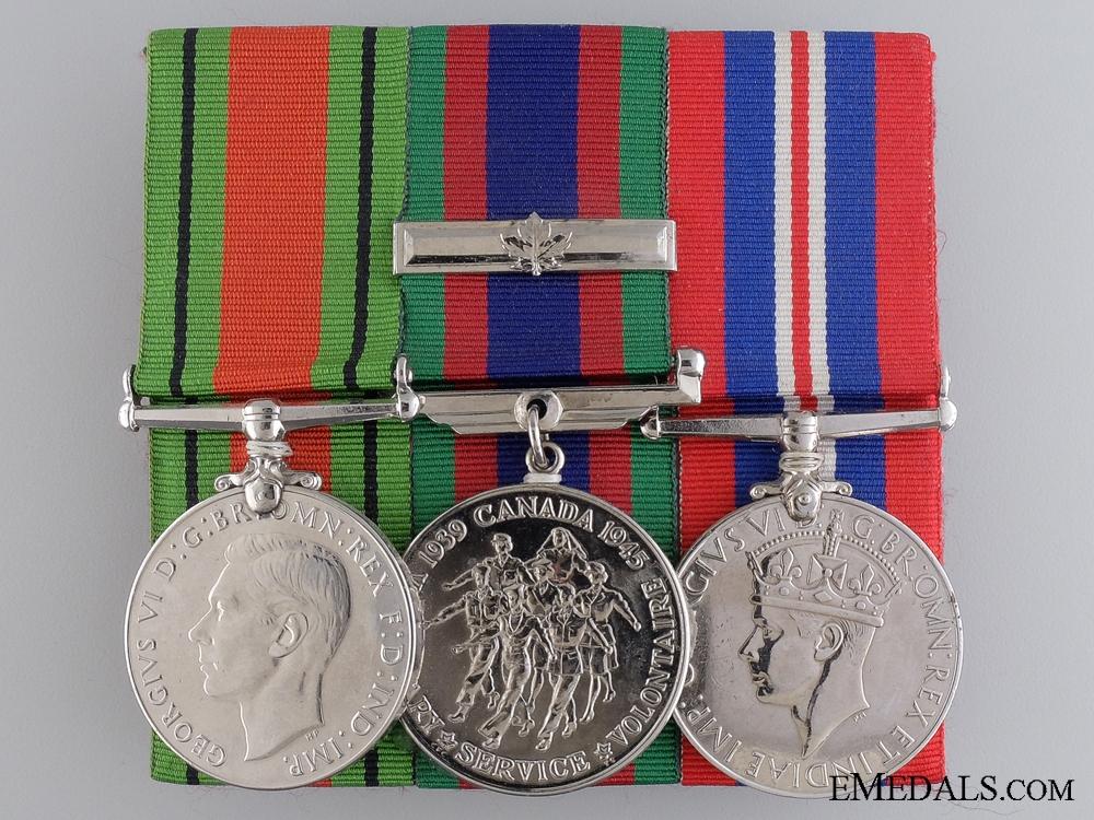 eMedals-A Second War Canadian Service Trio