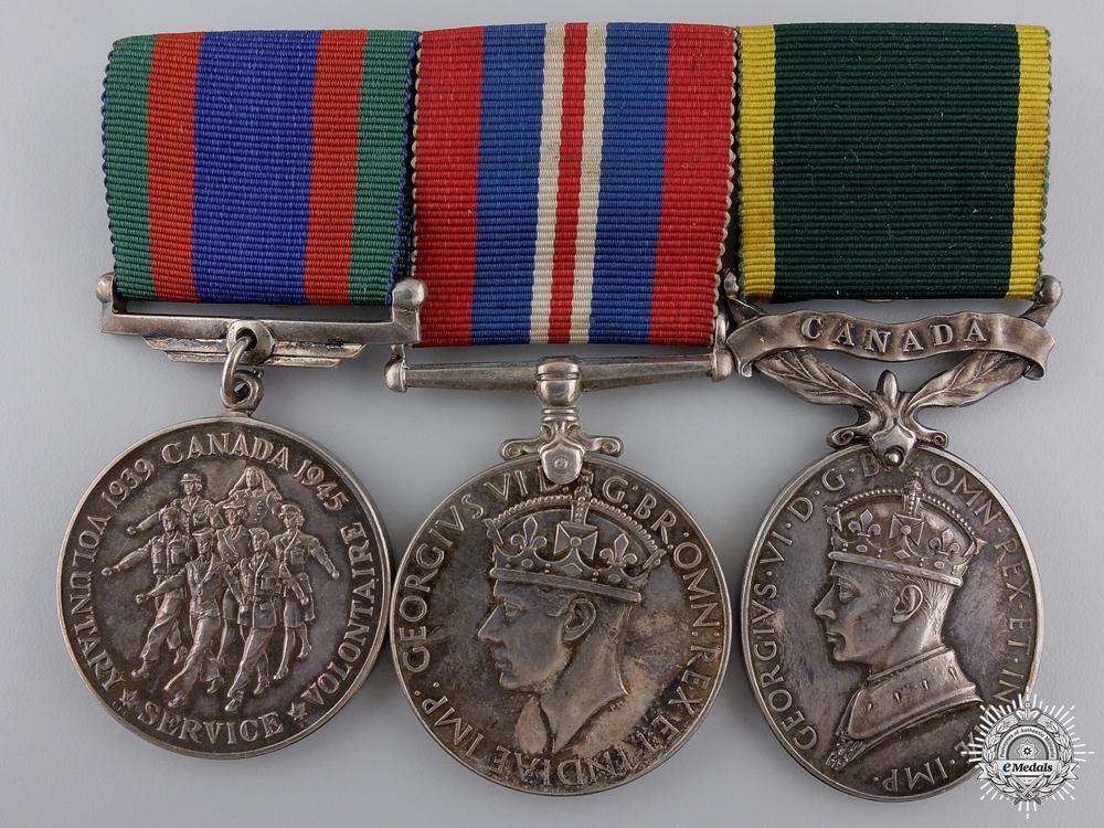 eMedals-A Second War Canadian Efficiency Medal Bar