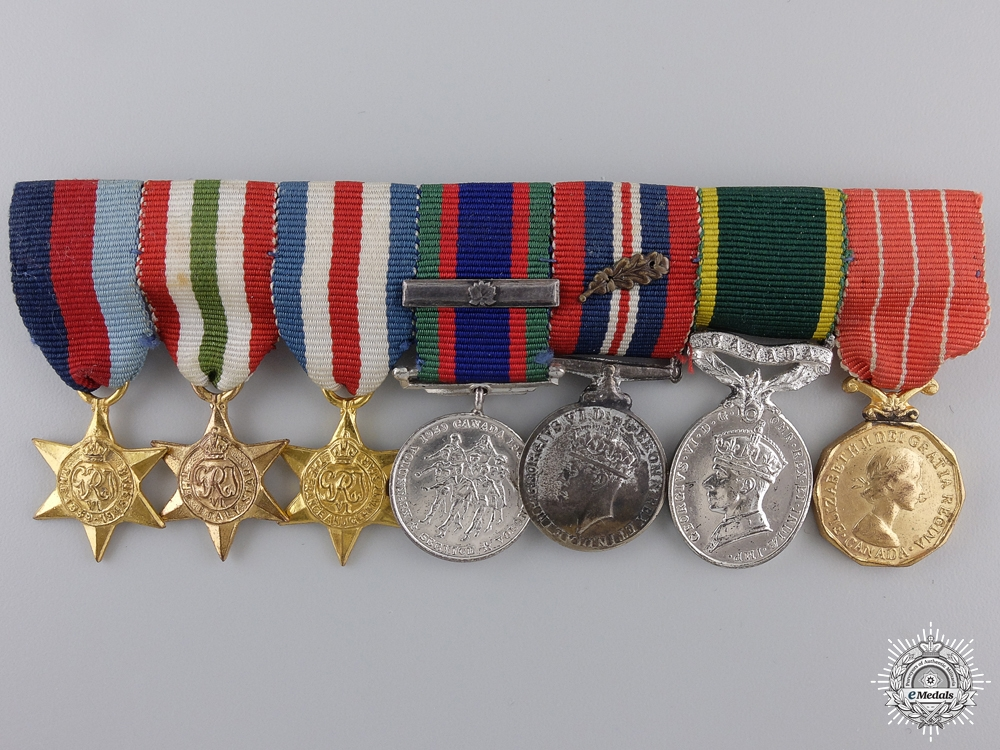 eMedals-A Second War Canadian Miniature Medal Group