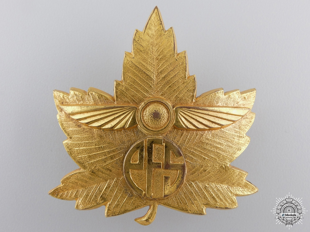 eMedals-A Second War Canadian Elementary Flying School (EFS) Cap BadgeConsignment 28