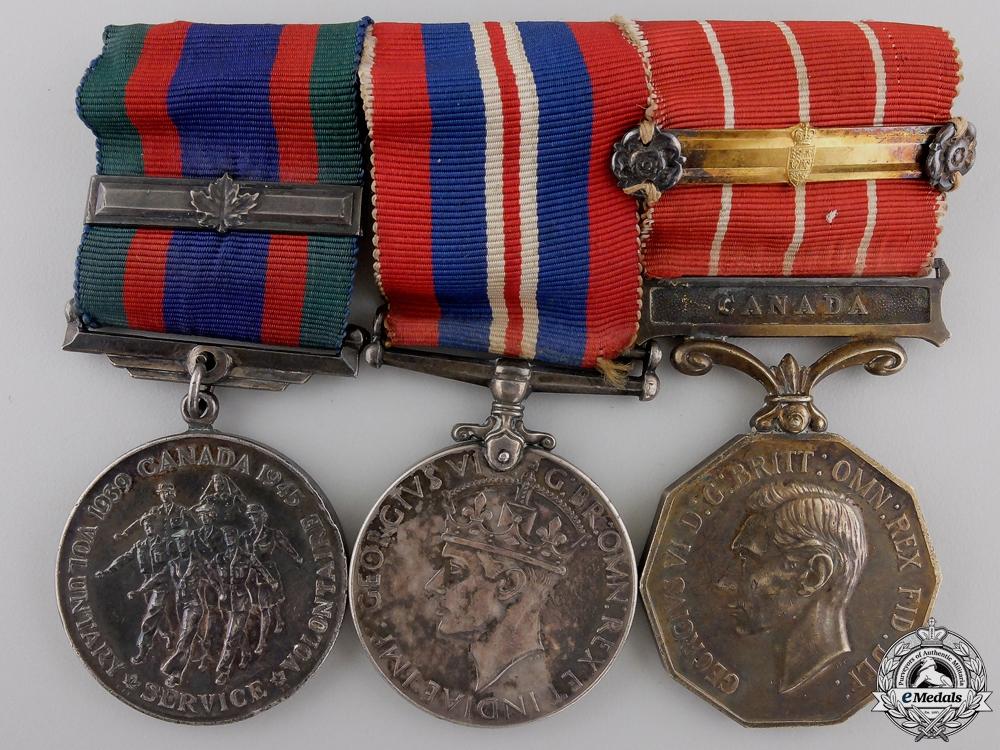 eMedals-A Second War Canadian Forces Medal Bar