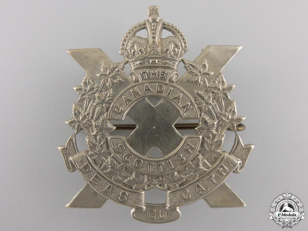 eMedals-A Second War Canadian Scottish Regiment Glengarry Badge