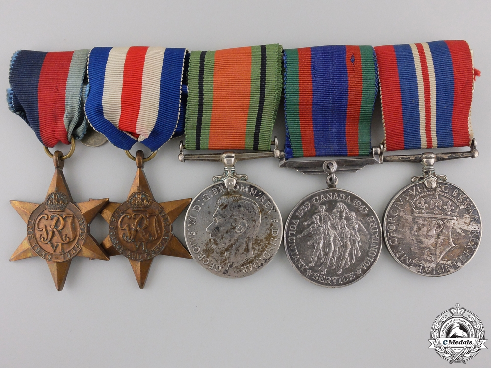 eMedals-A Second War Canadian Medal Grouup