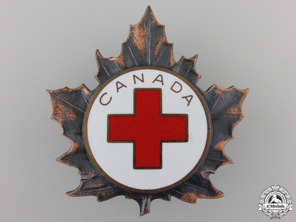 eMedals-A Second War Canadian Red Cross Cap Badge