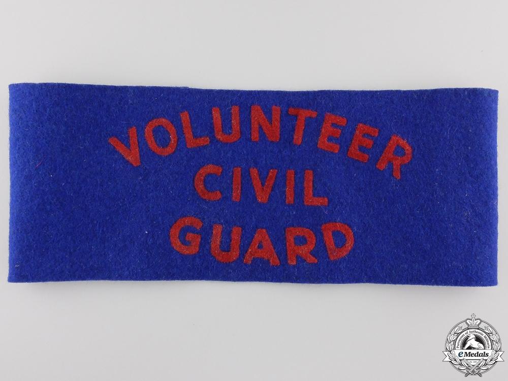 eMedals-A Second War Canadian Home Defence Volunteer Civil Guard Armband