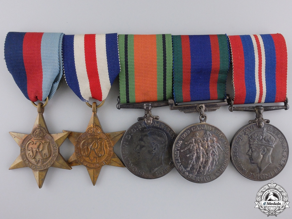 eMedals-A Second War Canadian European Theatre Medal Group