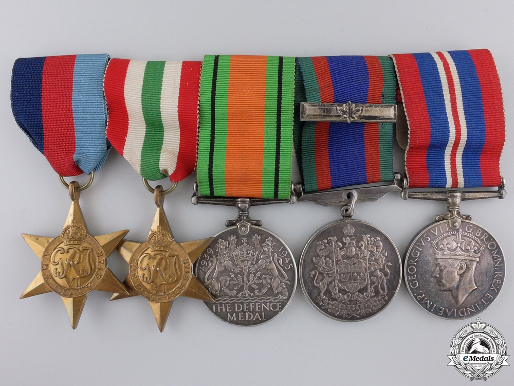eMedals-A Second War Canadian Italian Theatre Medal Group