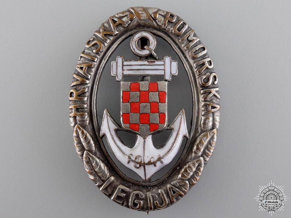eMedals-A Second War Croatian Naval Badge; Type II