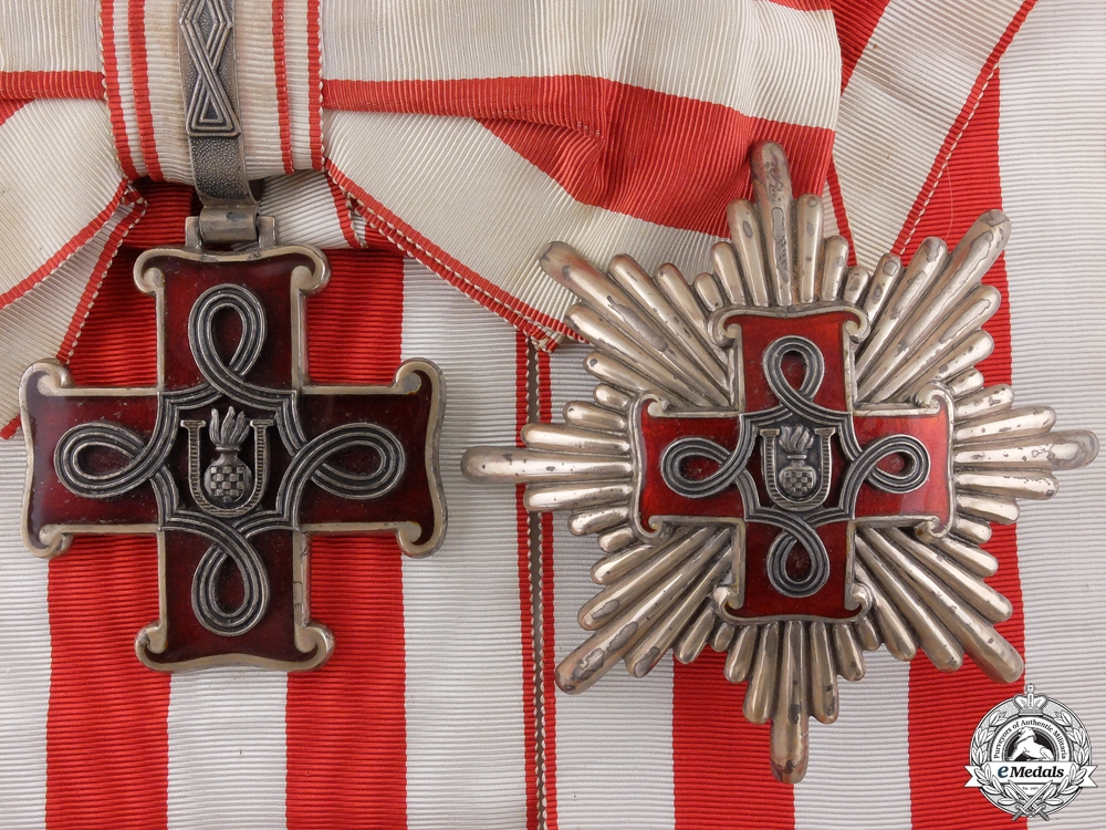 eMedals-A Second War Croatian Order of Merit; Grand Cross