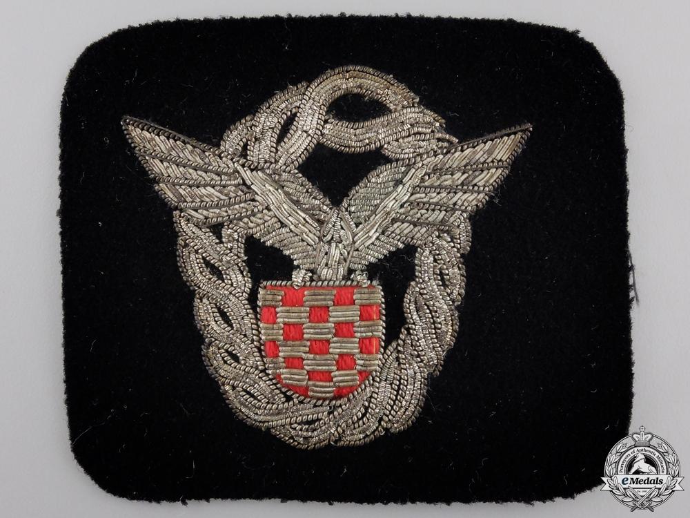 eMedals-A Second War Croatian  Pilot's Badge; Cloth Version