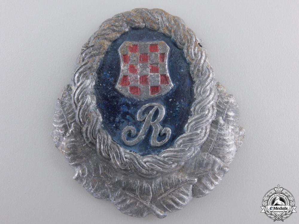 eMedals-A Second War Croatian Police Guardsmen Cap Badge