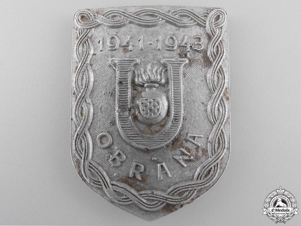 eMedals-A Second War Croatian Ustasha Defense Badge