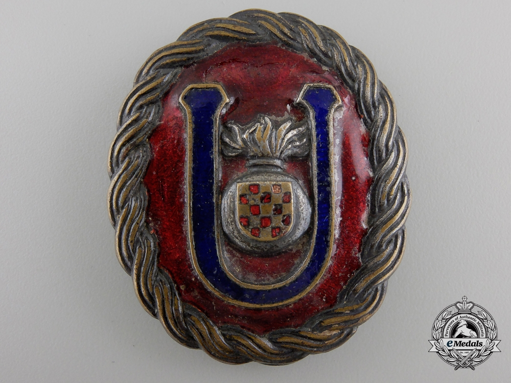 eMedals-A Second War Croatian Ustasha Officer Belt Buckle