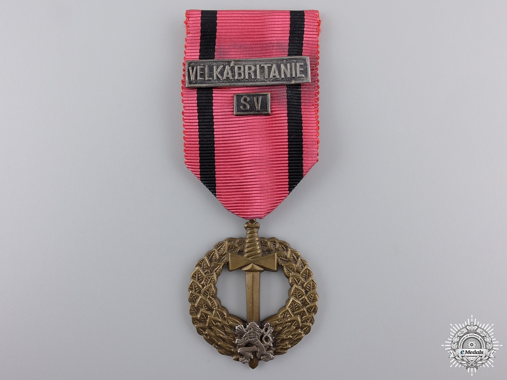 eMedals-A Second War Czech Medal of the Army Abroad; SSSR & SV