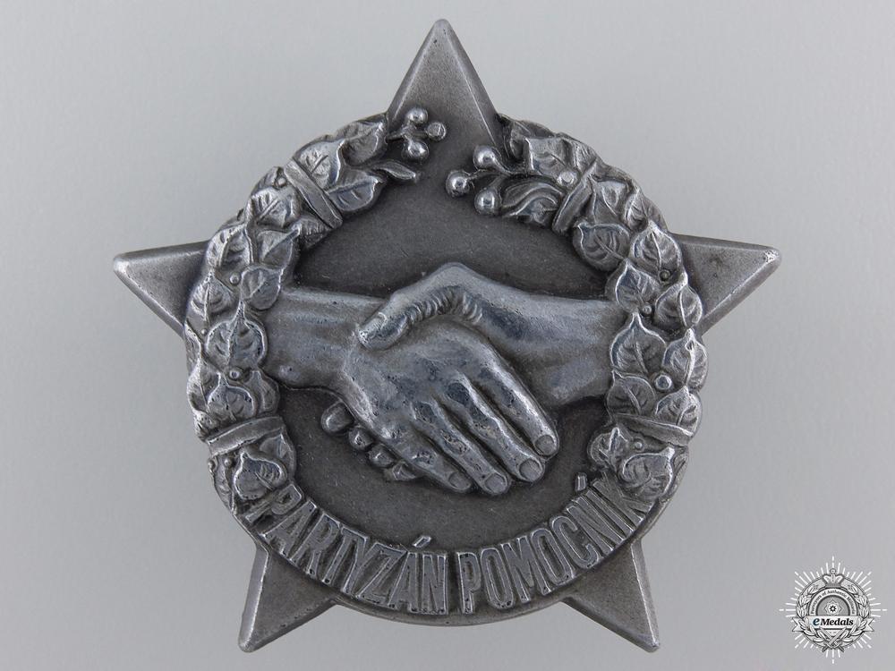 eMedals-A Second War Czechoslovakian Partisan Helper Badge in Silver