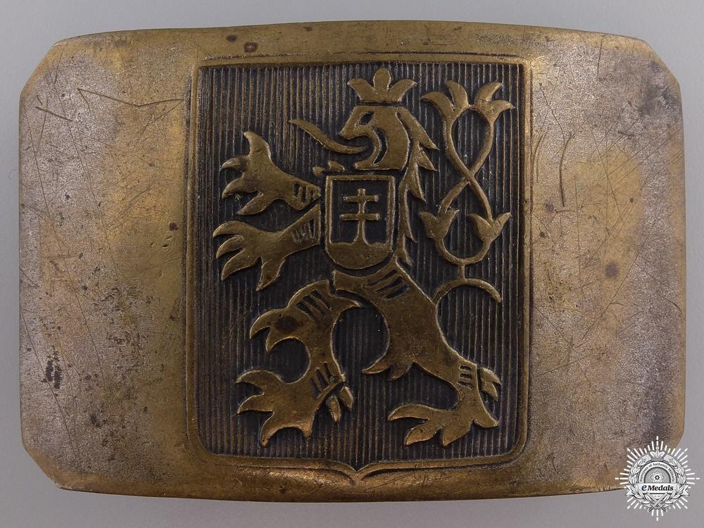 eMedals-A Second War Czech Legion Belt Buckle