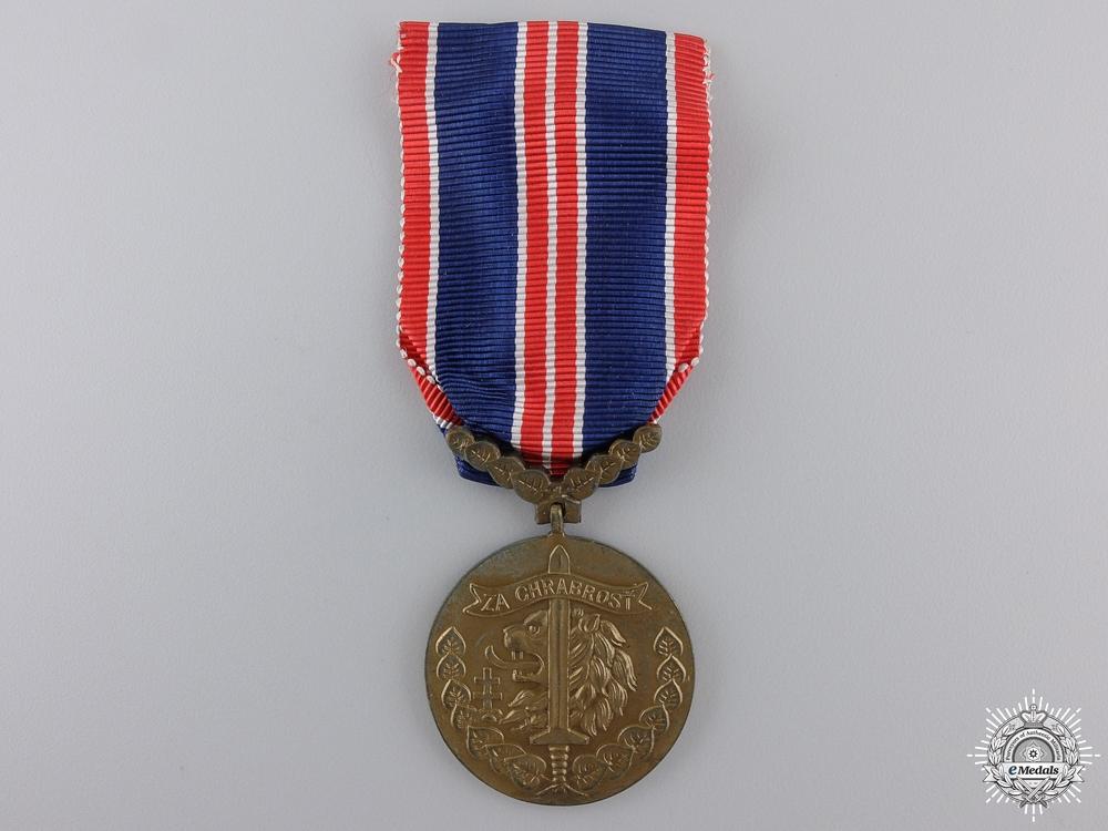 eMedals-A Second War Czechoslovakian Bravery Medal 1939