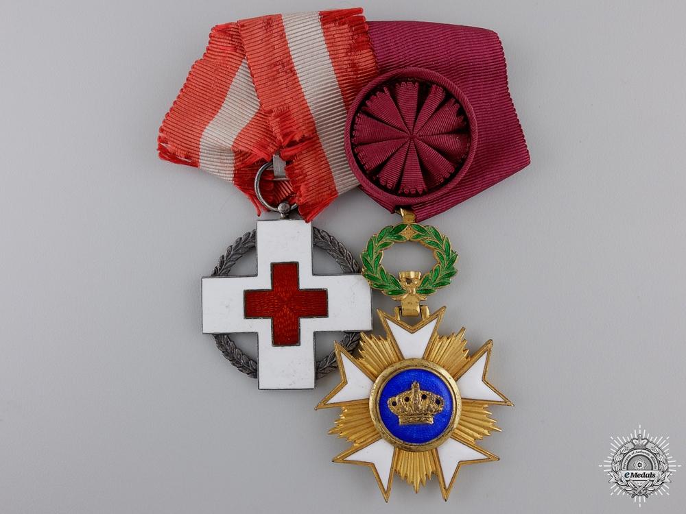 eMedals-A Second War Danish-Belgium Red Cross Pair