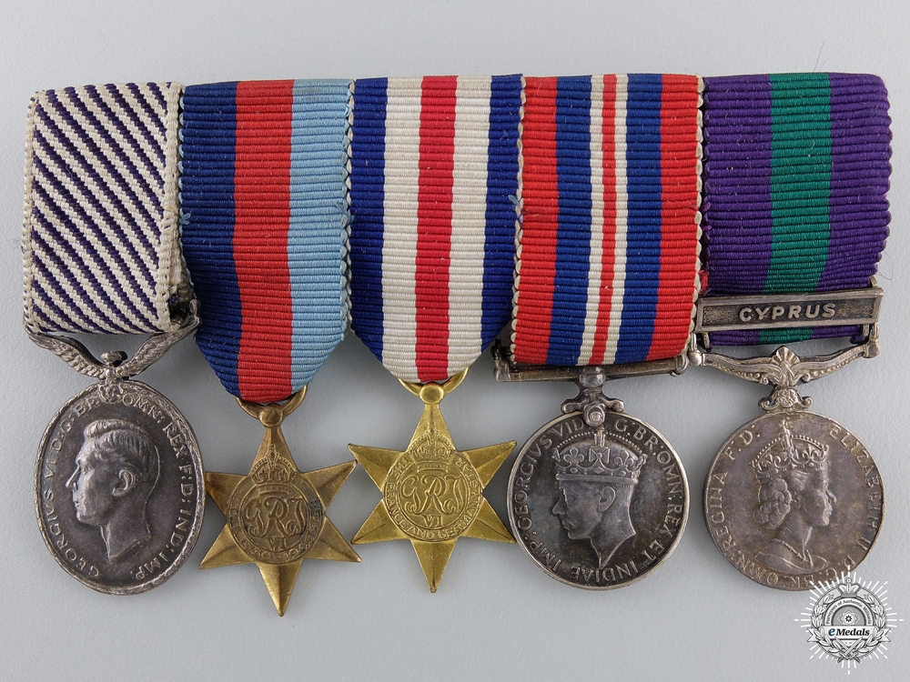 eMedals-A Second War Distinguished Flying Medal Miniature Group