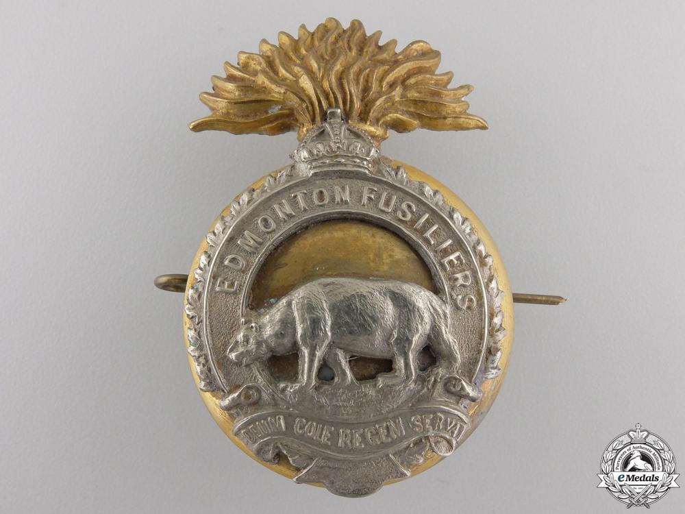 eMedals-A Second War Edmonton Fusiliers (Machine Gun) Cap Badge