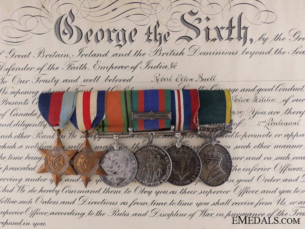 eMedals-A Second War Efficiency Medal Bar to Major Robert Buell RCIC