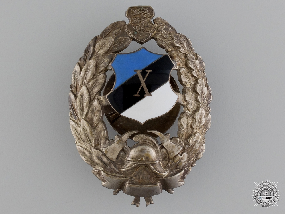 eMedals-A Second War Estonian Fireman's Breast Badge