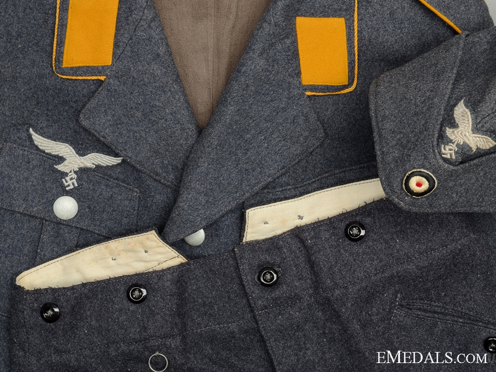 eMedals-A Second War German Luftwaffe Service Uniform with 1940 Side Cap