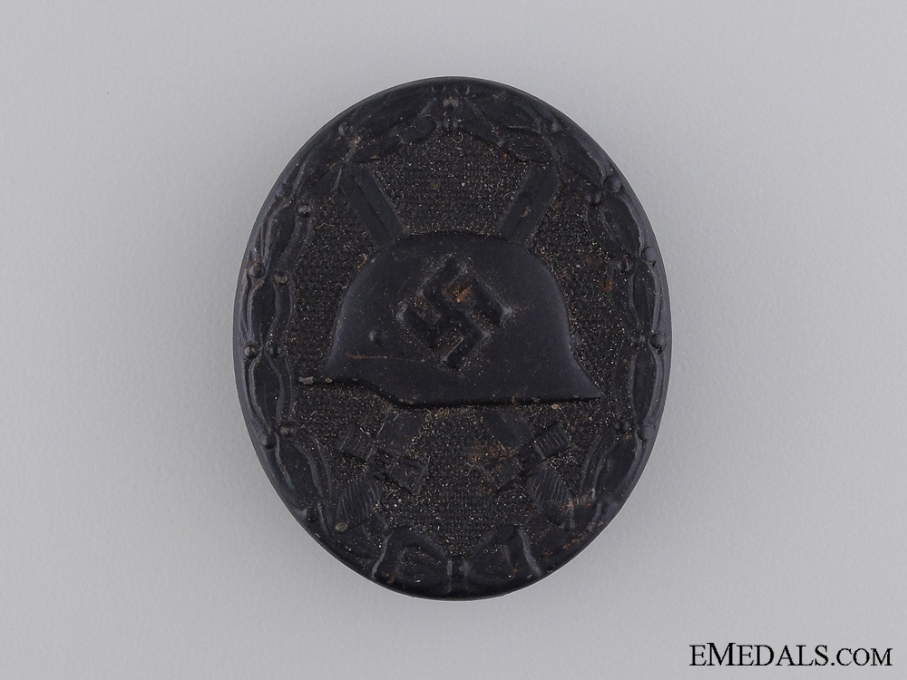 eMedals-A Second War German Wound Badge; Black Grade; Marked 65
