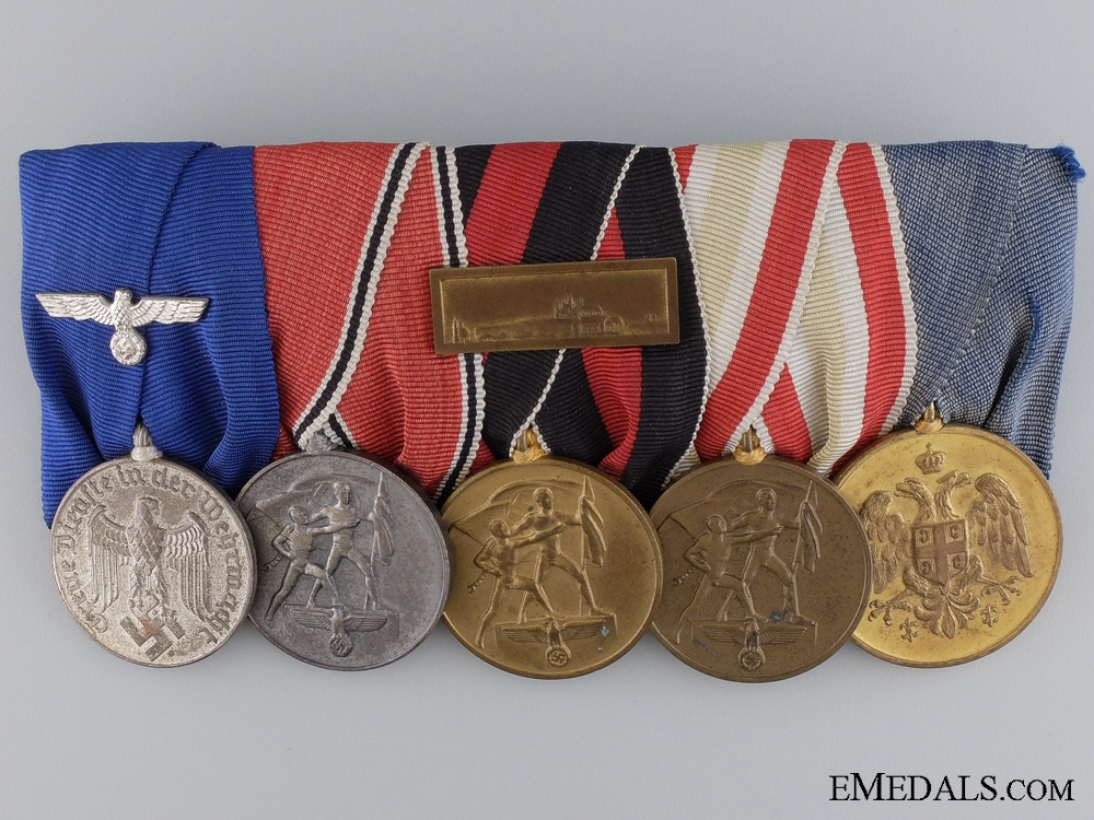 eMedals-A Second War German & Serbian Campaign Medal Bar