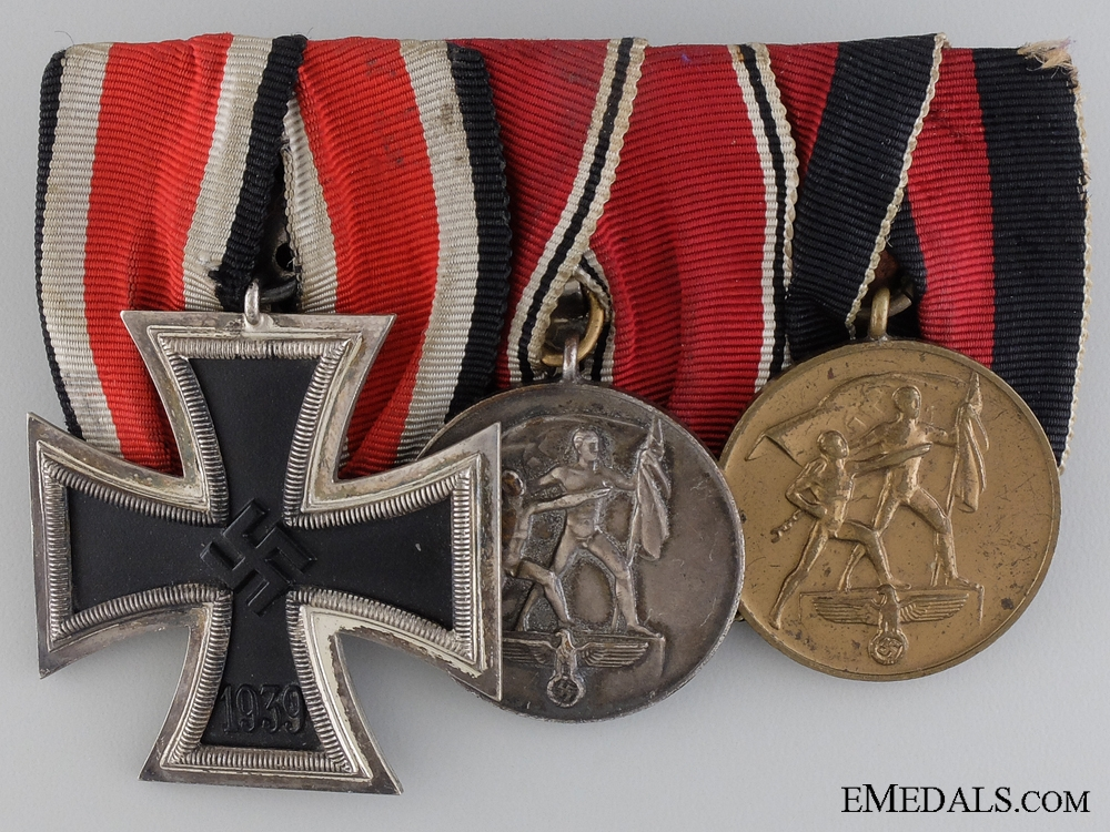 eMedals-A Second War German Bravery & Campaign Medal Bar