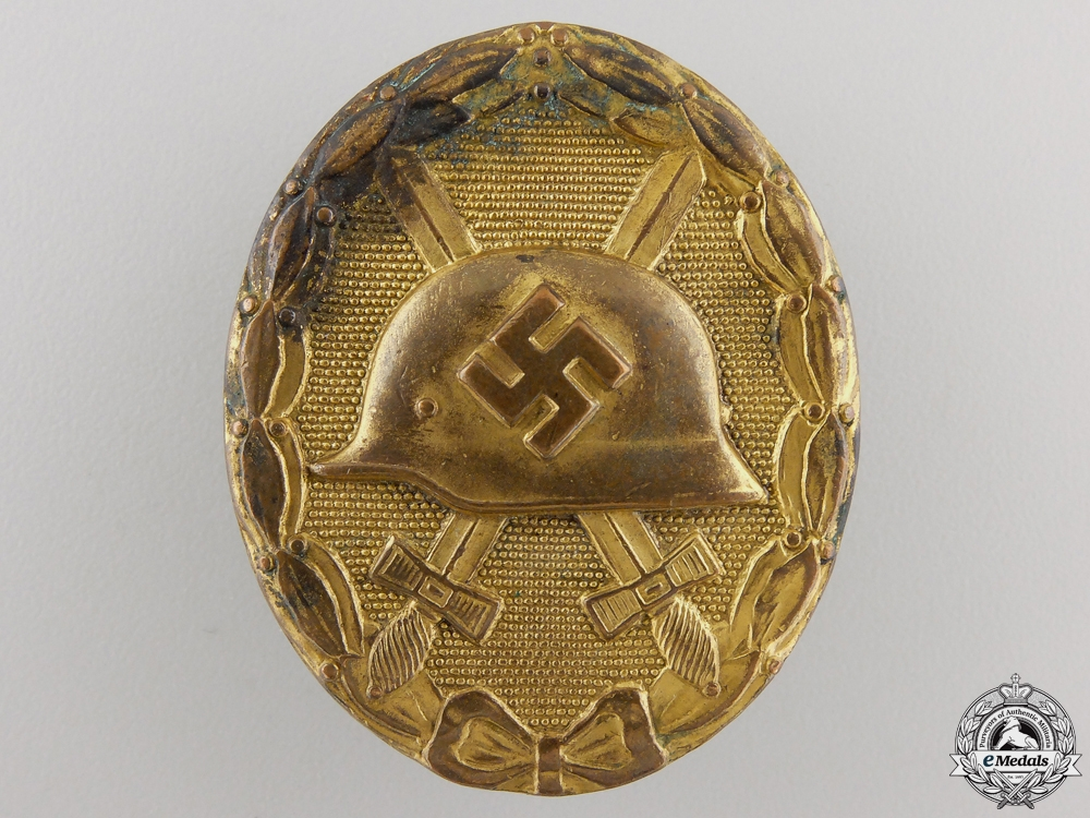 eMedals-A Second War Gold Grade Wound Badge