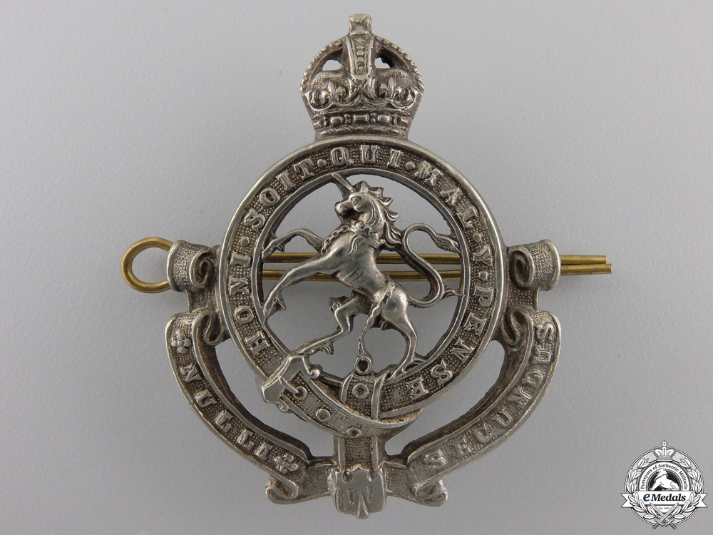 eMedals-A Second War Governors General's Horse Guards Officer's Cap Badge