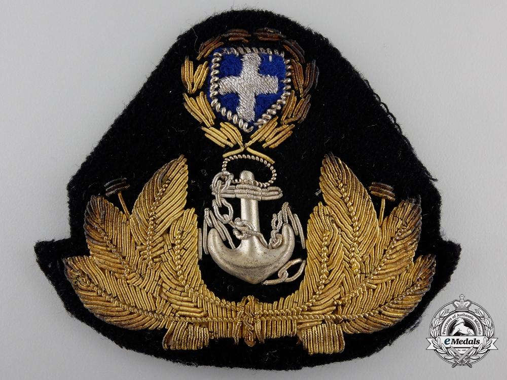 eMedals-A Second War Greek Royal Hellenic Officer's Cap Badge