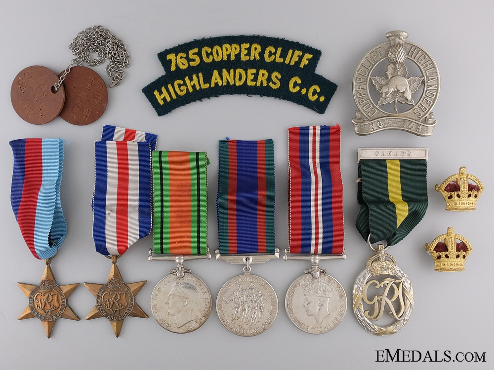 eMedals-A Second War Group to Pipe Major Swain; Copper Cliff Highlanders