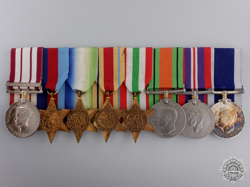 eMedals-A Second War Group of Eight to Senior Commissioned Stores Officer Rowell