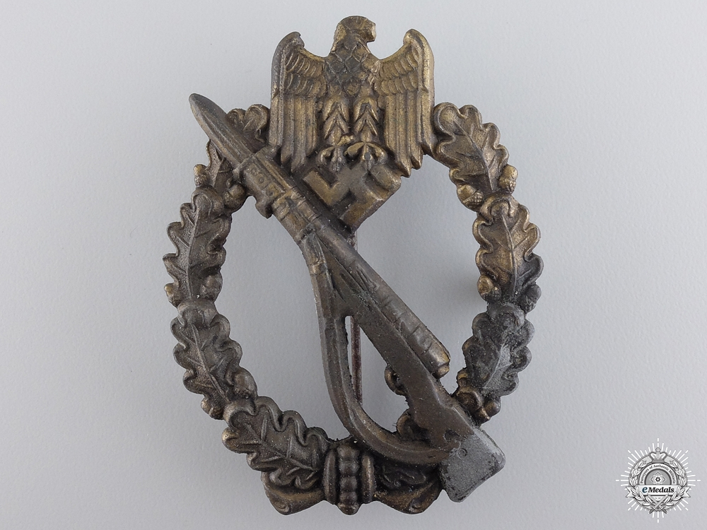 eMedals-A Second War Infantry Badge; Bronze Grade