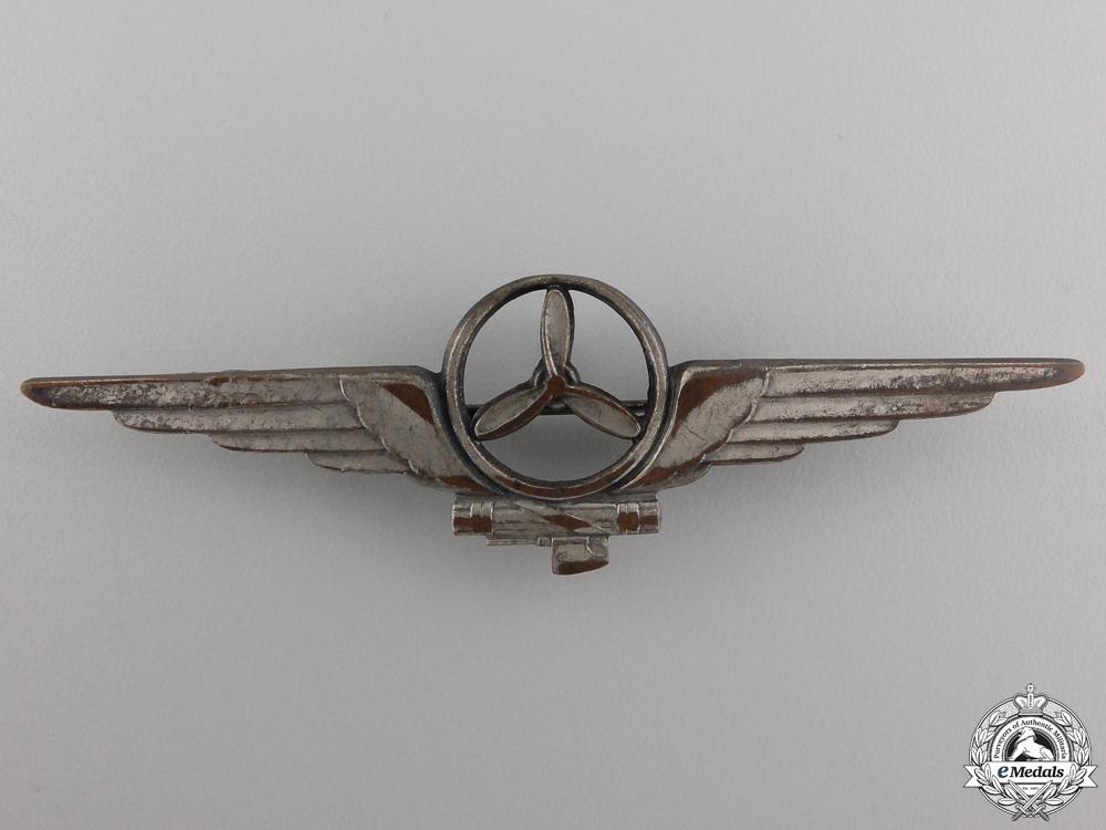 eMedals-A Second War Italian Aircraft Mechanic Badge